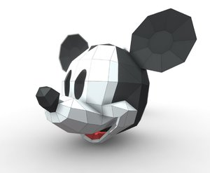 heads mask mickey 3D model