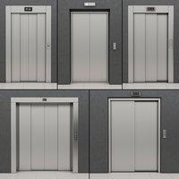 set doors elevators kone 3D model