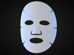 cosmetic mask 3D model