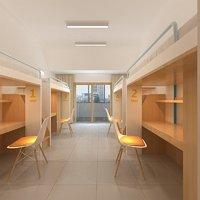 3D model dormitory dorm