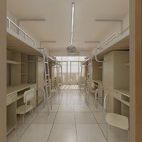 dormitory dorm 3D model