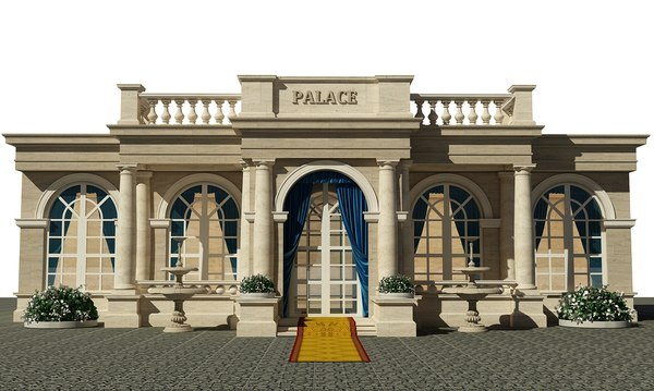 classic facade structured 3D model