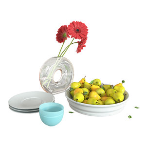 3D decorative pears flowers