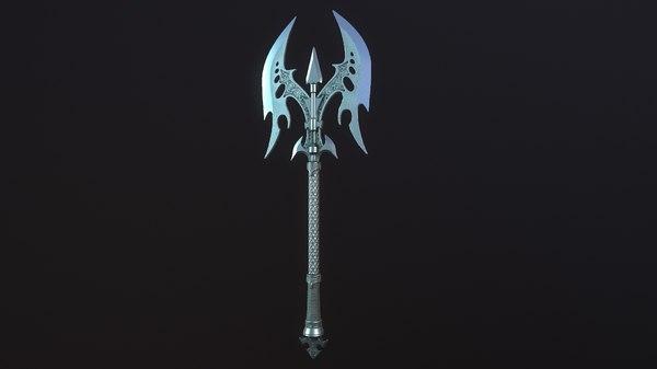 3D model medieval ax