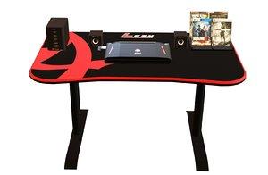 3D computer desk laptops model
