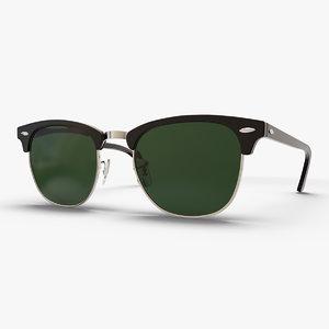 classic sunglasses glasses sun 3D model