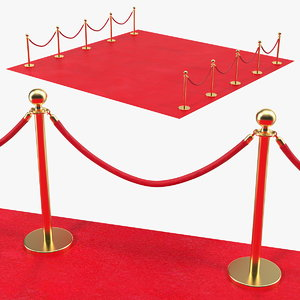 red carpet scene 3D