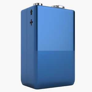 volt battery v 3D model