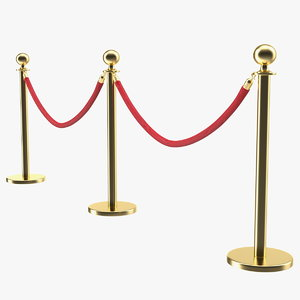 3D red carpet fence model
