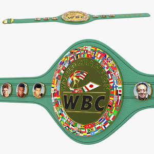 wbc championship boxing belt 3D model