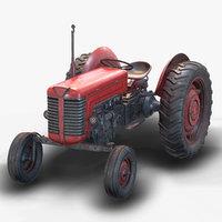 3D model tractor pbr ue4