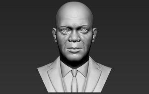 samuel l jackson bust 3D model
