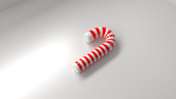 candy cane 1 3D