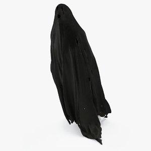 3D black ghost pbr model