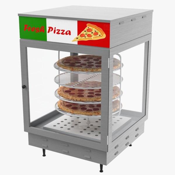 3D pizza warmer display model