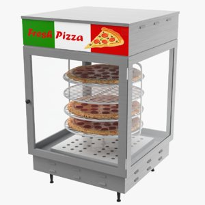 3D pizza warmer display model