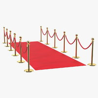 3D red carpet