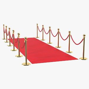 3D red carpet