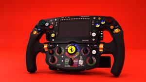3D vettel 2019 steering wheel