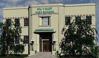 Hill Valley High school movie set prop