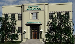 hill valley school movie 3D model