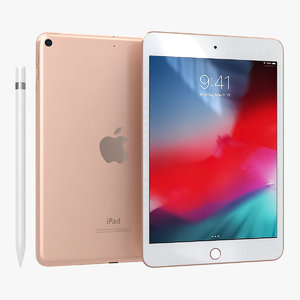 3D model apple ipad mini 2019