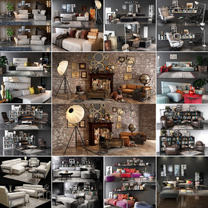 living room sets vol 3D