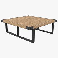 3D bench exterior
