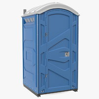 portable restroom 3D