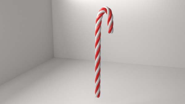 candy cane 2 3D model