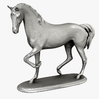old horse statue model