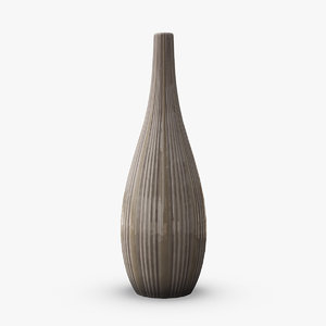 3D tall ceramic fashion vase model