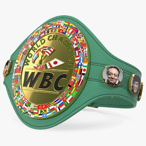 3D model wbc champion belt