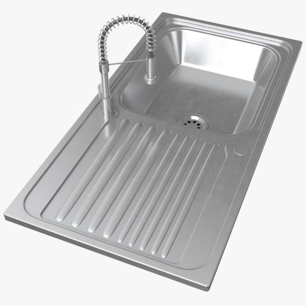 real kitchen sink 3D model