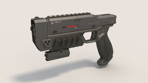 blaster sci-fi 3D model