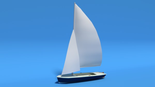 flying scot dinghy sailboat 3D model
