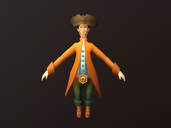 pirate sailor 3D model