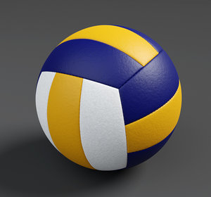 3D volley volleyball ball model