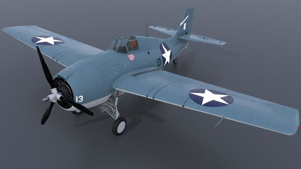 aircraft carrier f4f-3s 13 3D model