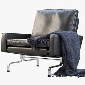 3D fritz hansen pk31 easy chair