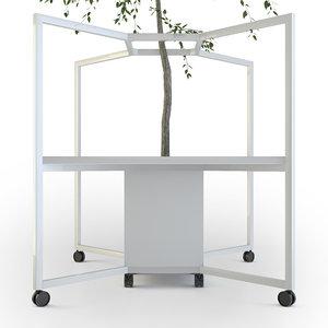 3D table tree model