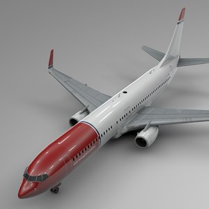 3D norwegian air boeing 737-800