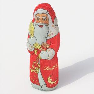chocolate santa claus 3D model