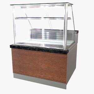 meat display unit 3D model