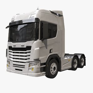 generic european semi truck 3D model