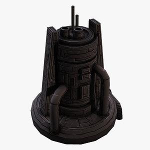 scifi structure 3D model