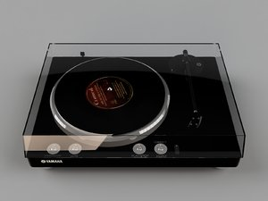 3D model gramophone yamaha