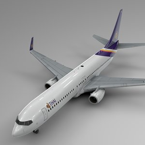3D thai airways boeing 737-800