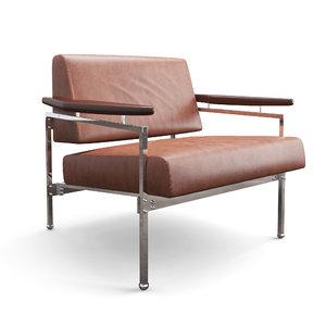 beto lounge armhair chairs 3D model