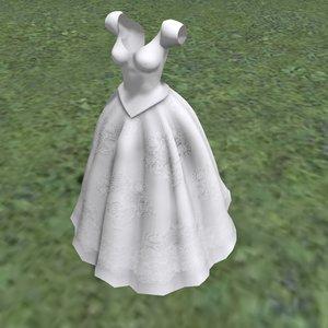3D bridal gown model